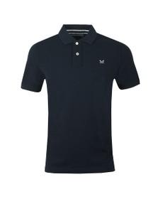 Crew Clothing Company Mens Blue Classic Pique Polo