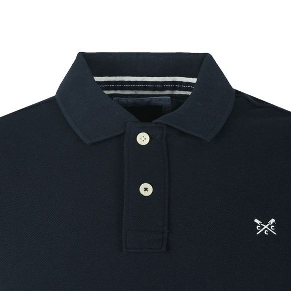 Crew Clothing Company Mens Blue Classic Pique Polo main image
