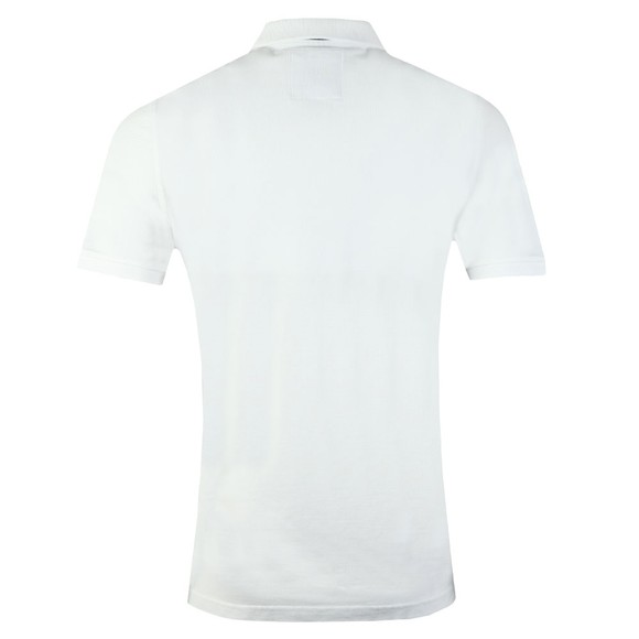 Crew Clothing Company Mens White Classic Pique Polo main image