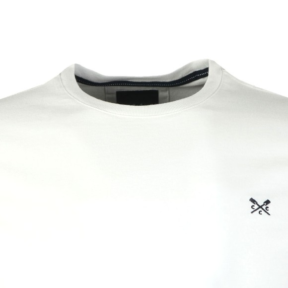 Crew Clothing Company Mens White Classic T-Shirt