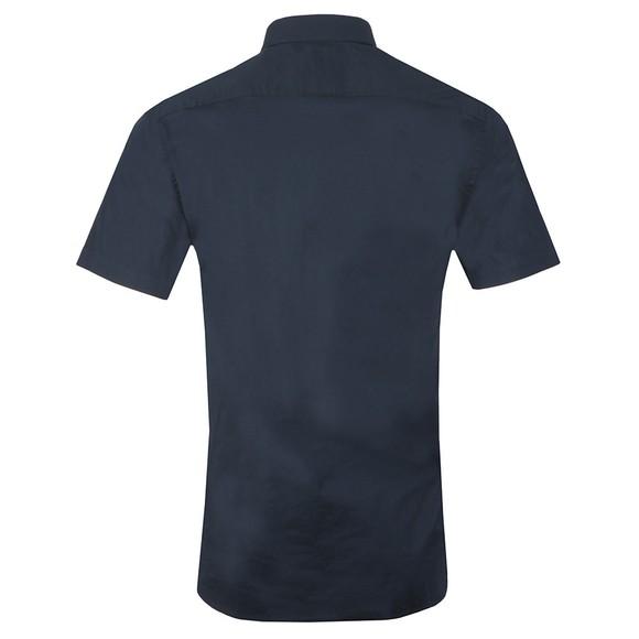 Tommy Hilfiger Mens Blue SS Stretch Poplin Shirt main image