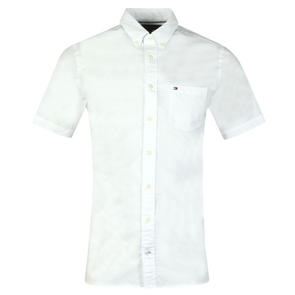 Tommy Hilfiger Mens White SS Stretch Poplin Shirt main image