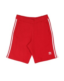 adidas Originals Mens Red 3 Stripes Sweat Short