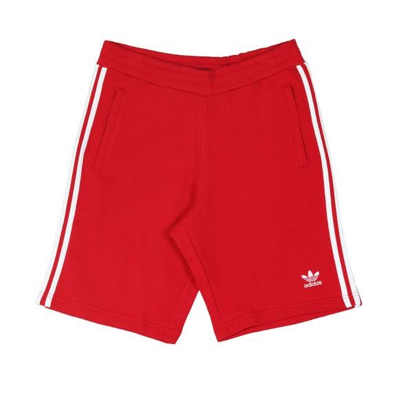 adidas Originals Mens Red 3 Stripes Sweat Short main image