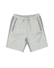 BOSS Mens Grey Athleisure Headlo Sly Jersey Short