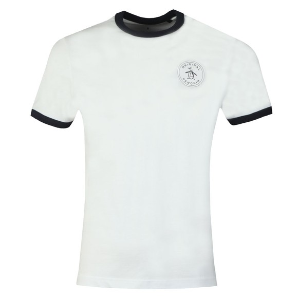 Original Penguin Mens White Stamp Logo Tee main image