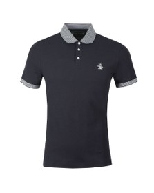 Original Penguin Mens Blue Contrast Collar Polo Shirt