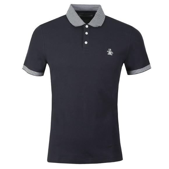 Original Penguin Mens Blue Contrast Collar Polo Shirt main image