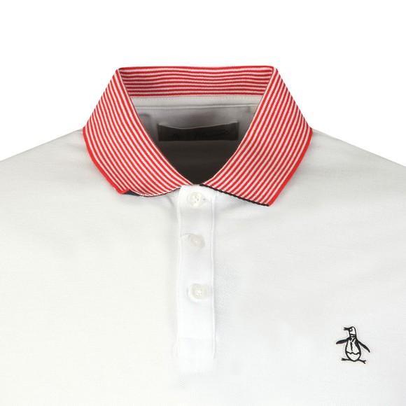 Original Penguin Mens White Contrast Collar Polo Shirt main image