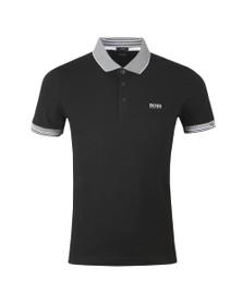 BOSS Mens Black Athleisure Paule Polo Shirt