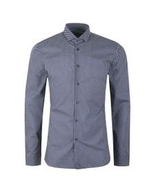 HUGO Mens Blue Erondo Logo Shirt