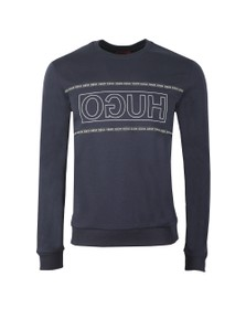 HUGO Mens Blue Dicago 193 Tape Sweatshirt