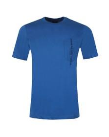 Diesel Mens Blue T-Just Pocket T Shirt