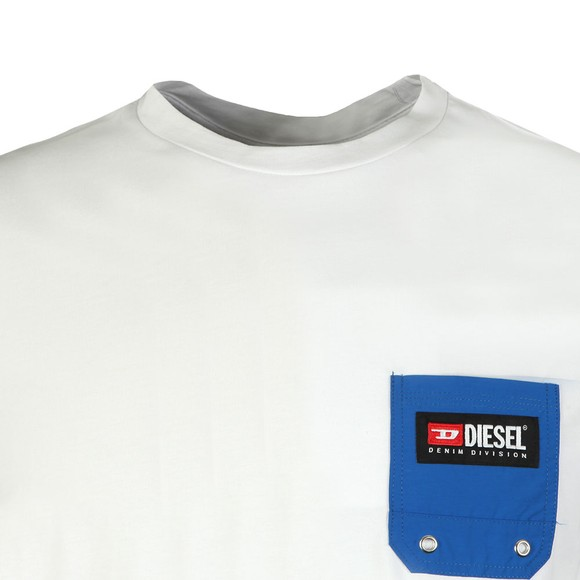 Diesel Mens White Pocket T-Shirt main image