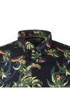 Scotch & Soda Mens Blue Patterned Short Sleeve Shirt