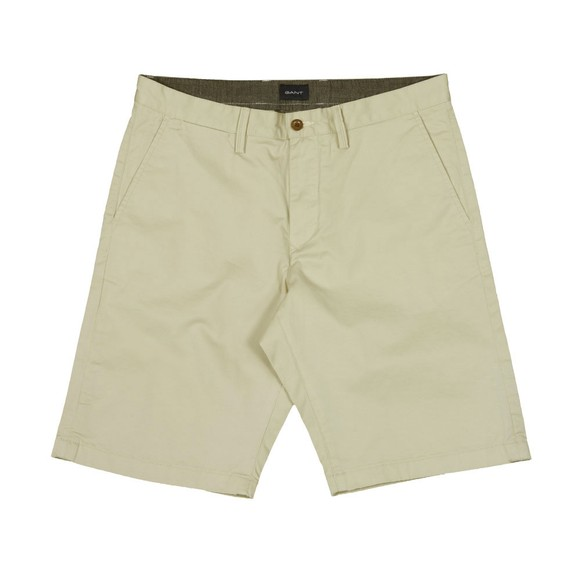 Gant Mens Beige Relaxed Twill Short main image