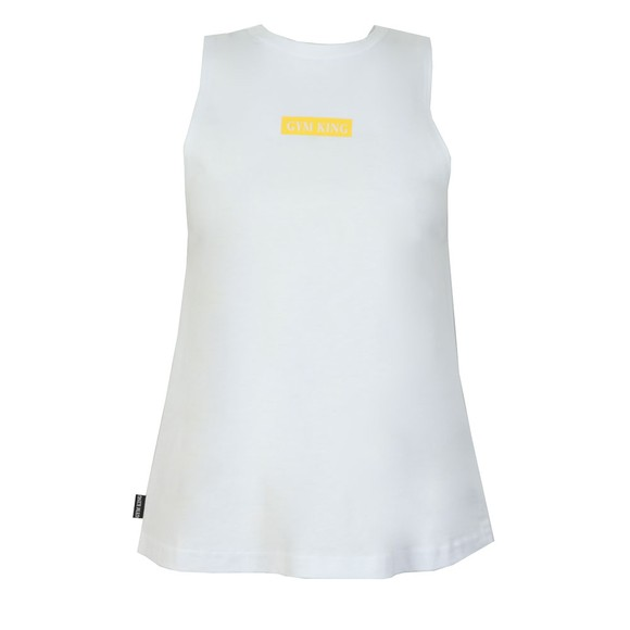 Gym King Womens White Sia Vest
