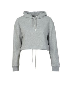 Gym King Womens Grey Helen Cropped Hoodie