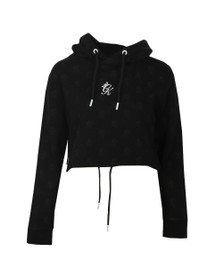Gym King Womens Black Avril Cropped Hoodie