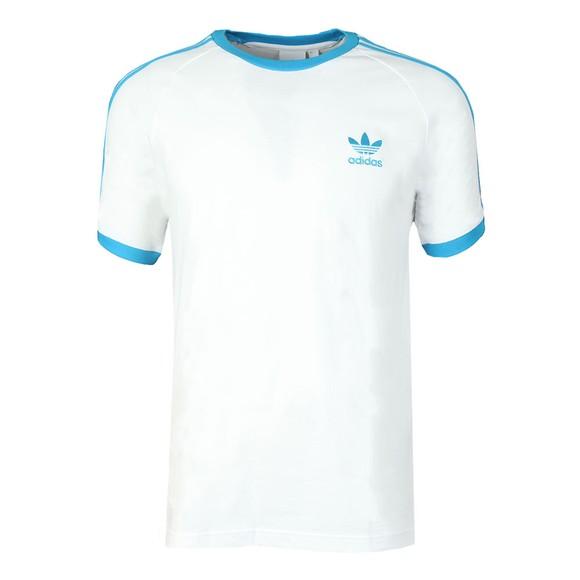 adidas Originals Mens White 3 Stripes T-Shirt main image