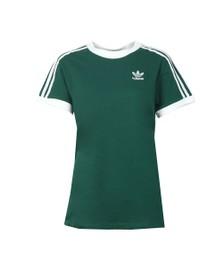 adidas Originals Womens Green 3 Stripes Tee