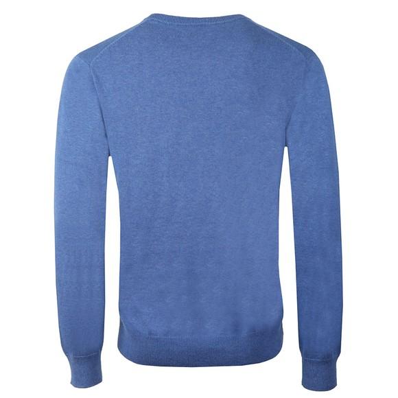 Gant Mens Blue V Neck Jumper main image