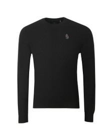 Luke 1977 Mens Black Price Work Crew Neck Jumper