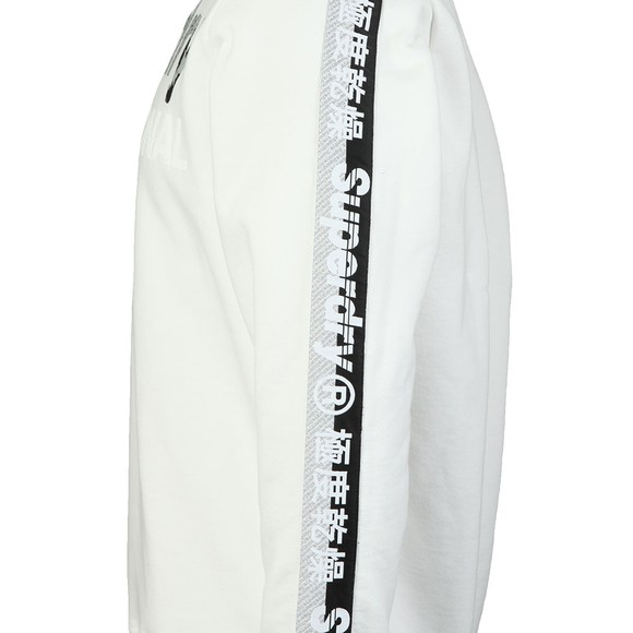 Superdry Mens White Monochrome Overs Sweat main image