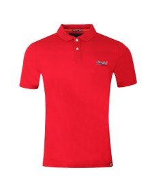 Superdry Mens Red Mercerised Lite City Polo