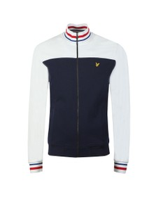 Lyle and Scott Mens Blue Tipped Funnel Neck Track