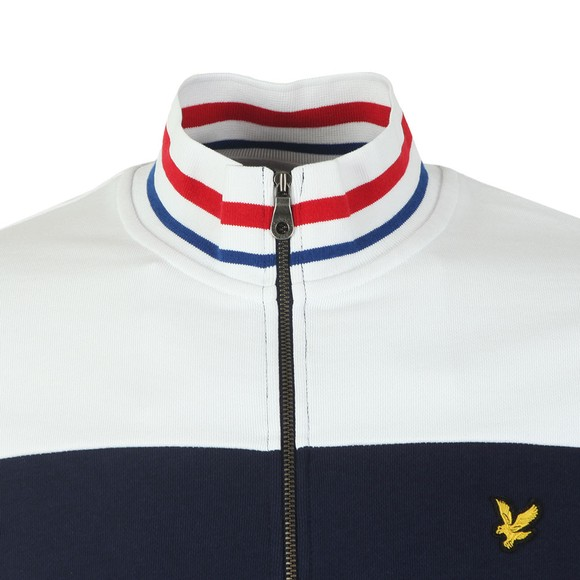 Lyle and Scott Mens Blue Tipped Funnel Neck Track main image