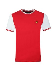 Lyle and Scott Mens Red Tipped Tee