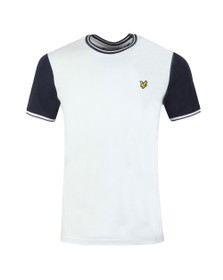 Lyle and Scott Mens White Tipped Tee