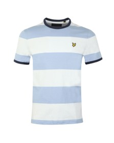 Lyle and Scott Mens Blue Wide Stripe Ringer Tee
