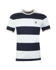 Lyle and Scott Mens Blue Contrast Band Tee