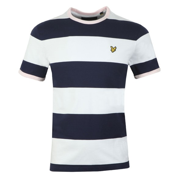 Lyle and Scott Mens Blue Contrast Band Tee main image