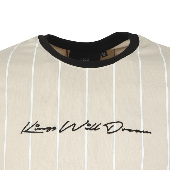 Kings Will Dream Mens Beige Clifton Pinstripe Tee main image