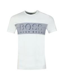 BOSS Mens White Athleisure Tee 2 T Shirt