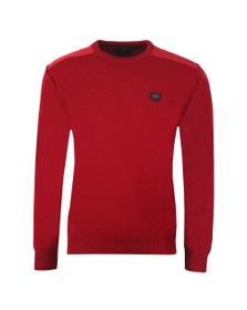 Paul & Shark Mens Red Knitted Crew Neck Wool Jumper