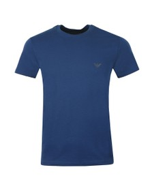 Emporio Armani Mens Blue Shoulder Logo T Shirt