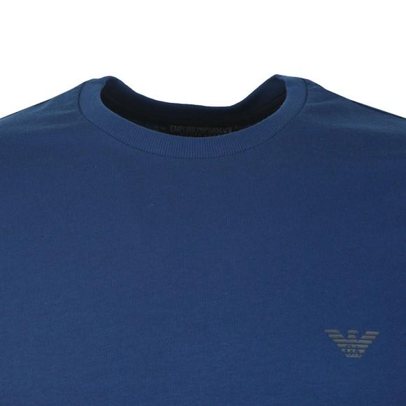 Emporio Armani Mens Blue Shoulder Logo T Shirt main image