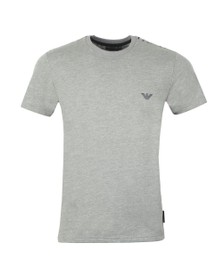 Emporio Armani Mens Grey Shoulder Logo T Shirt