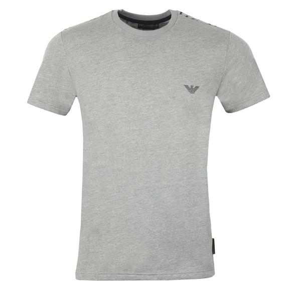Emporio Armani Mens Grey Shoulder Logo T Shirt main image