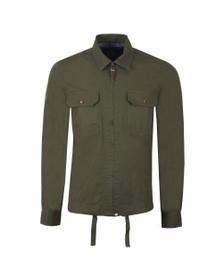 Pretty Green Mens Green Zip Up Overshirt