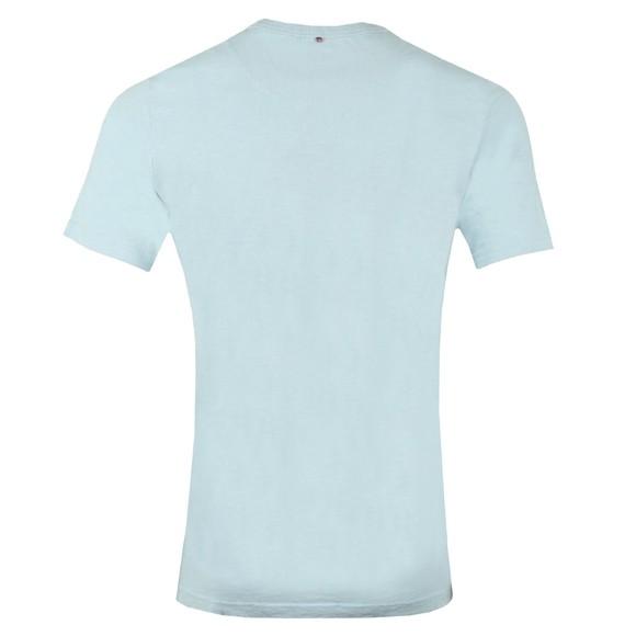 Pretty Green Mens Blue Vinyl Print T-Shirt main image