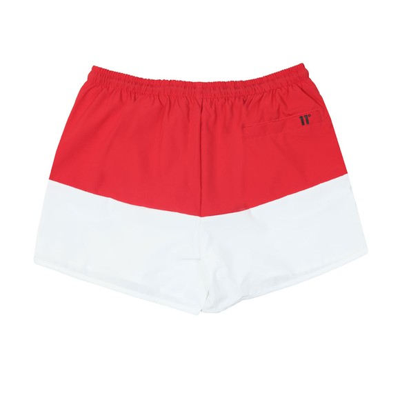Eleven Degrees Mens Red Vortex Block Swim Short main image