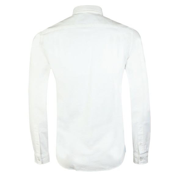Lacoste Mens White L/S Stretch Shirt main image