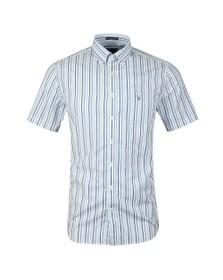 Gant Mens Blue 3 Colour Stripe SS Shirt