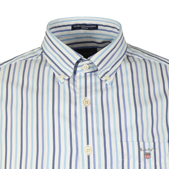 Gant Mens Blue 3 Colour Stripe SS Shirt main image