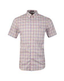 Gant Mens Orange 3 Colour Gingham SS Shirt